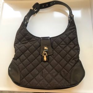 Burberry leather quilted brook hobo bag